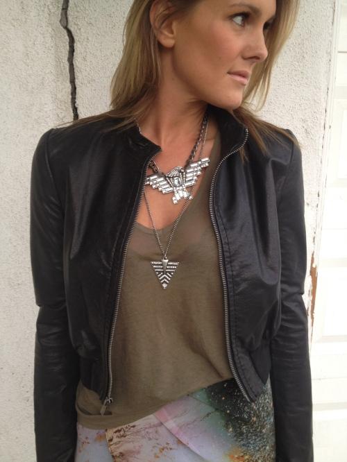 rhinestone eagle necklace