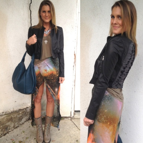 galaxy maxi skirt