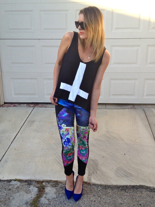 Z.Hovak tank & floral leggings