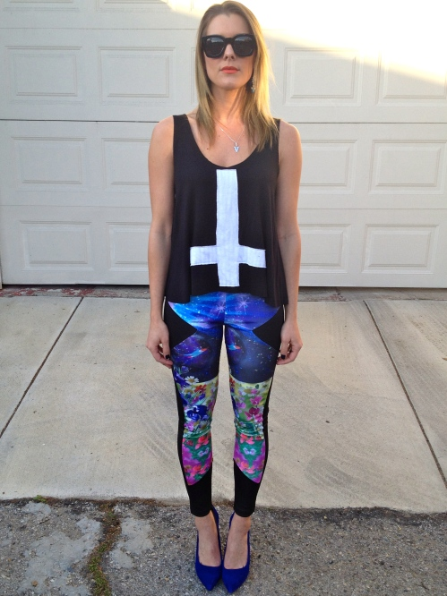 Z. Hovak tank & floral leggings