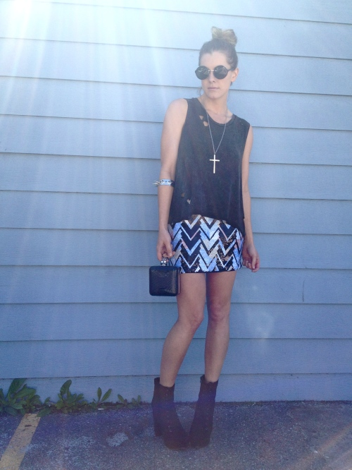 Zigzag Sequin Skirt