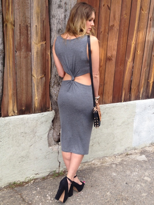 Dress with back cutouts