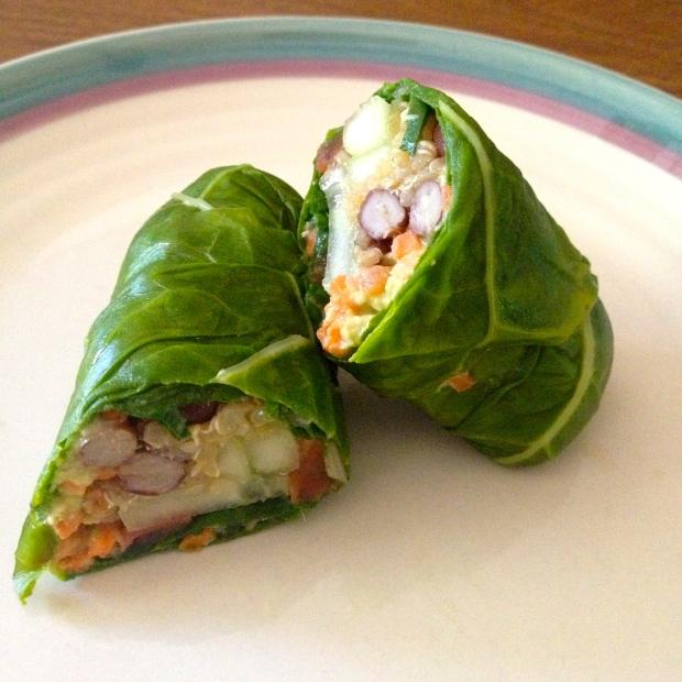 vegan swiss chard wraps