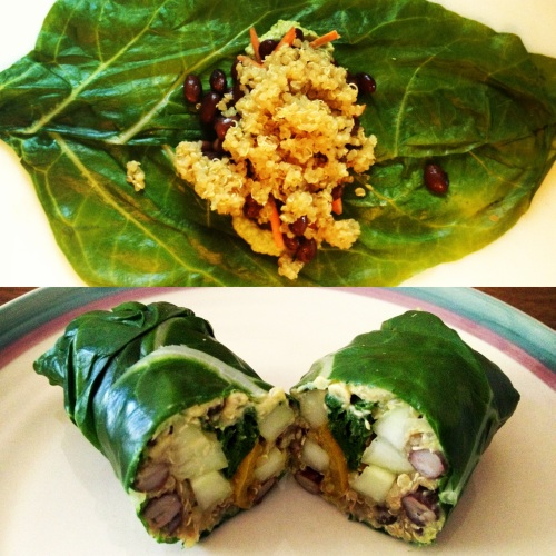 vegan swiss chard wraps